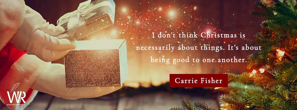 carrie fisher christmas quote