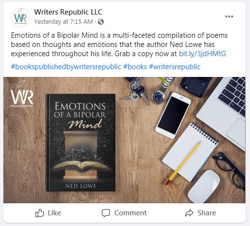 writers republic facebook book promo