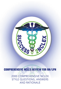 COMPREHENSIVE NCLEX REVIEW FOR RN/LPN : 2000 COMPREHENSIVE NCLEX STYLE QUESTIONS, ANSWERS AND RATIONALE