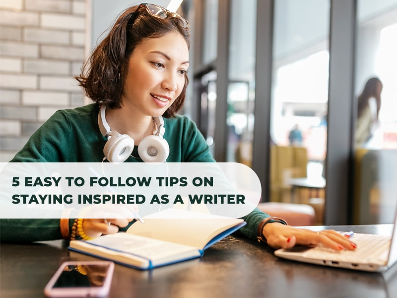 tips on staying inspired as a writer - featured image